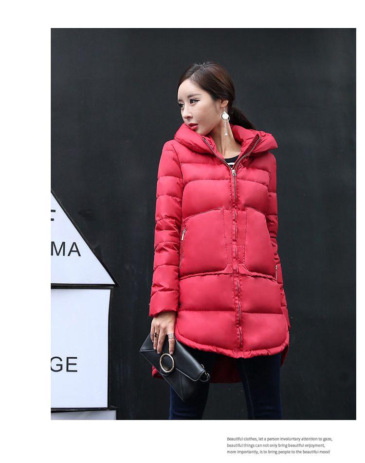 韩版时尚红色羽绒服