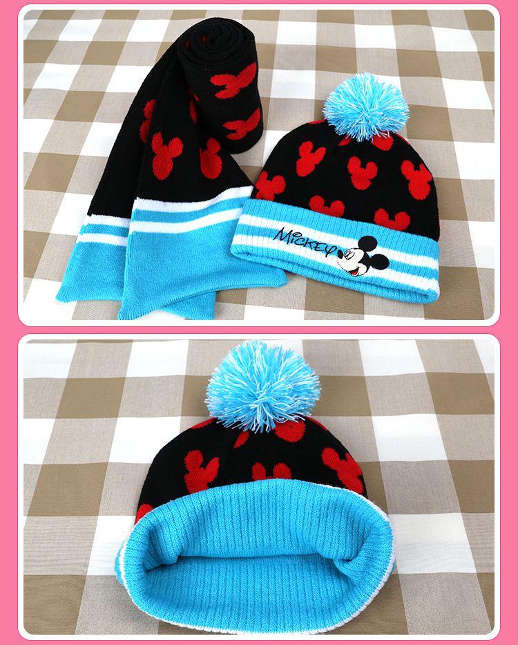 儿童针织围巾帽子套装
