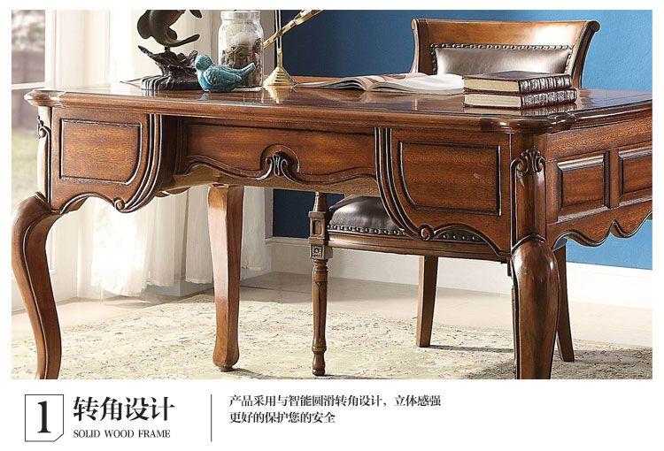 美式实木书桌电脑桌写字台 特价清仓