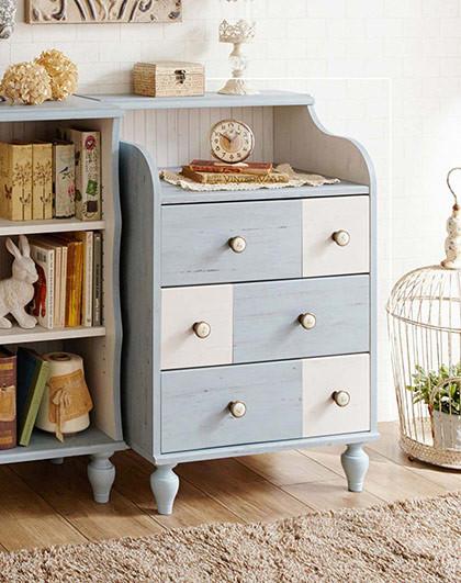 法式古董风斗柜储物柜实木置物柜客厅柜子斗柜实木收纳柜
