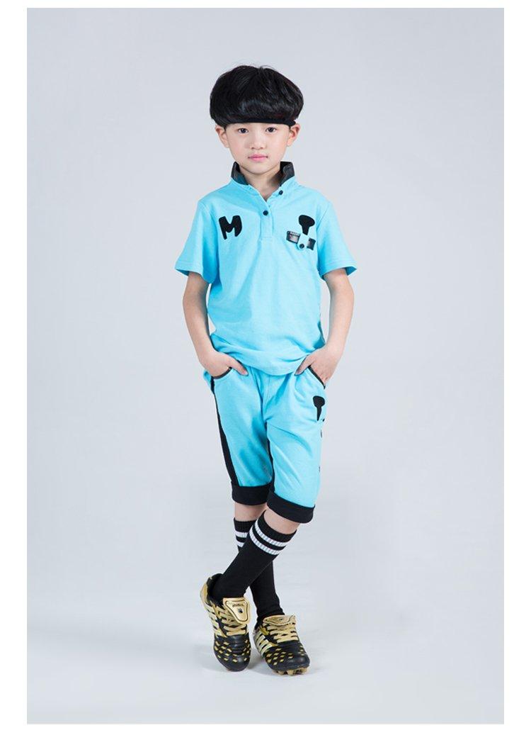 童�j�Z螊8^Y_男中童足球鞋黑/绿