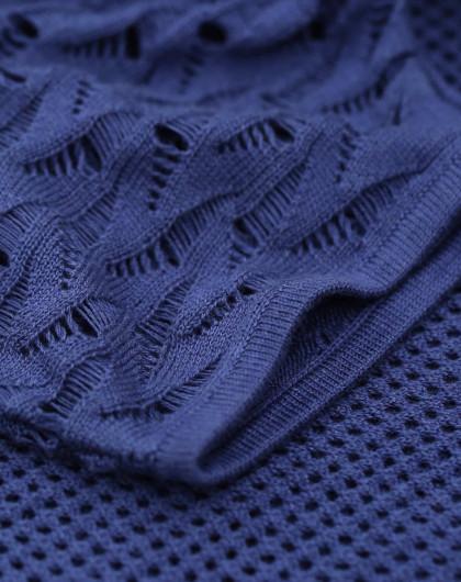 狂生记镂空编织针织衫开衫