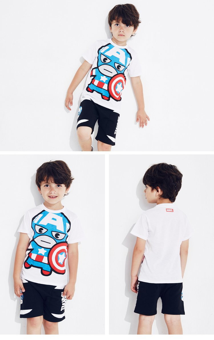 漫威-男童卡通可爱t恤