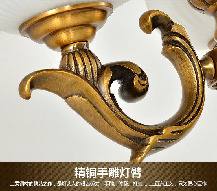 6头 欧式复古铜吊灯