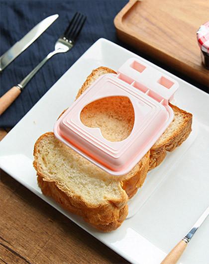 日本制心形三明治儿童便当可爱卡通模具图片