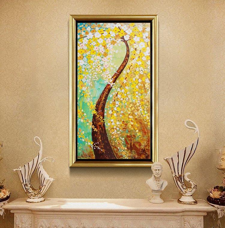 聚财纳福 欧式客厅挂画卧室壁画装饰画图片
