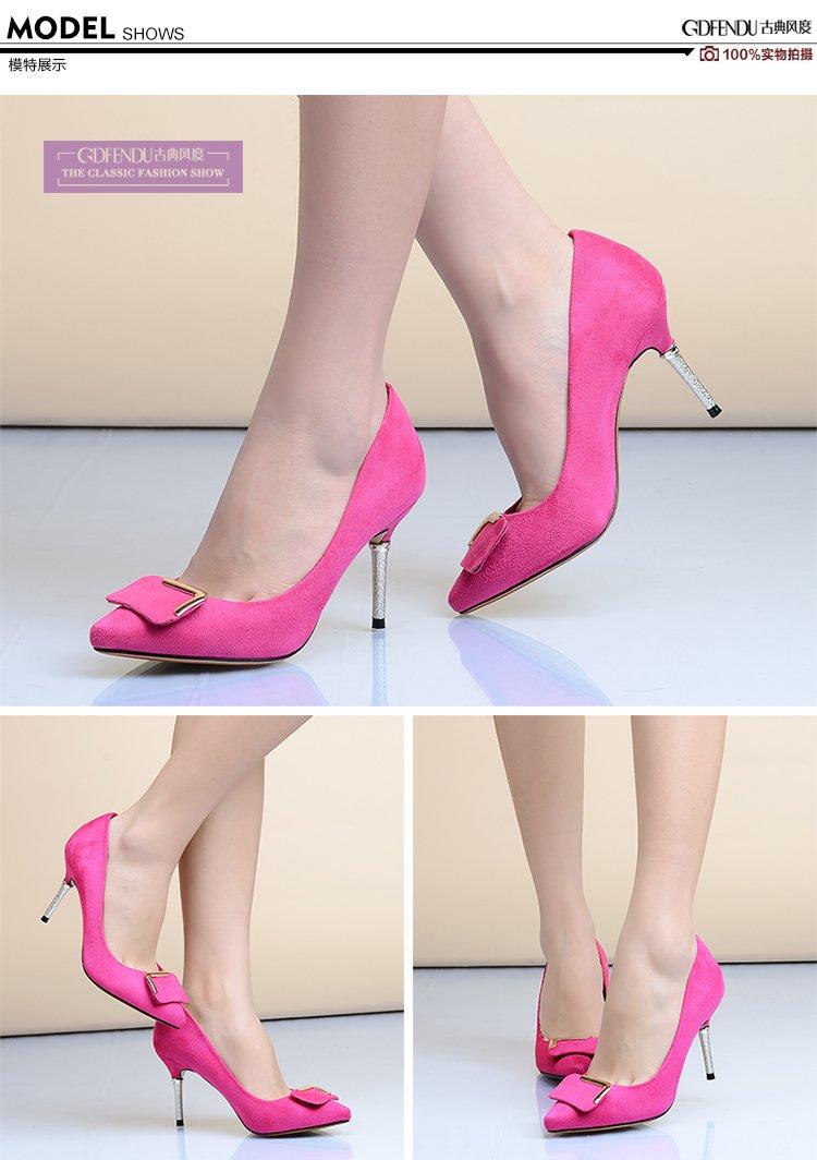 单鞋细跟超高跟鞋浅口女鞋