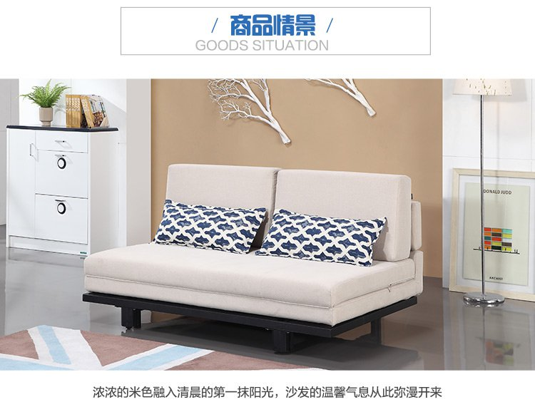 小户型客厅布艺沙发组合沙发床