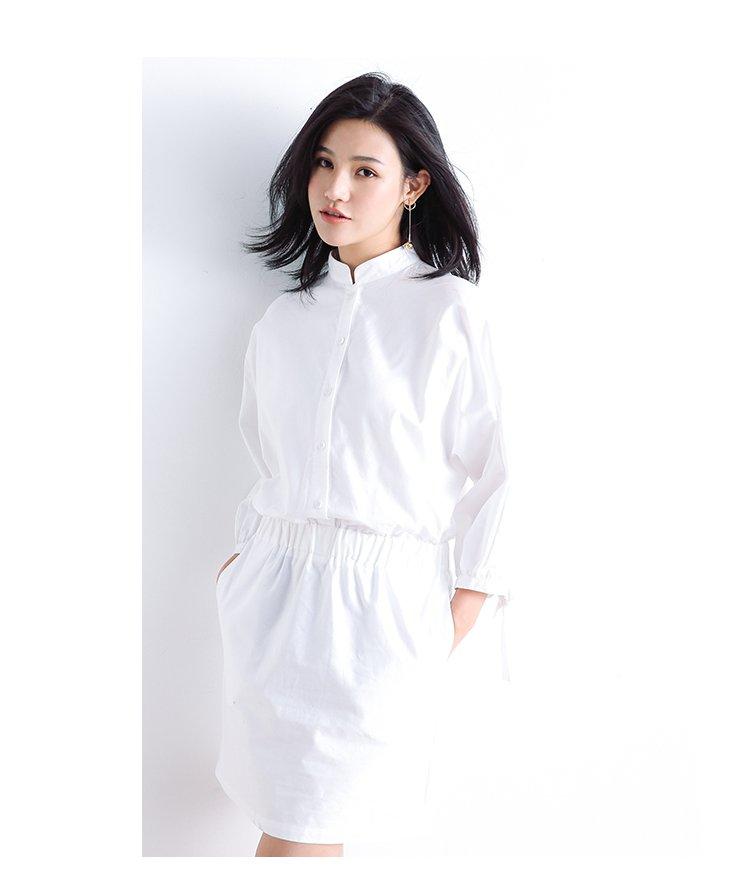 气质衬衫式连衣裙