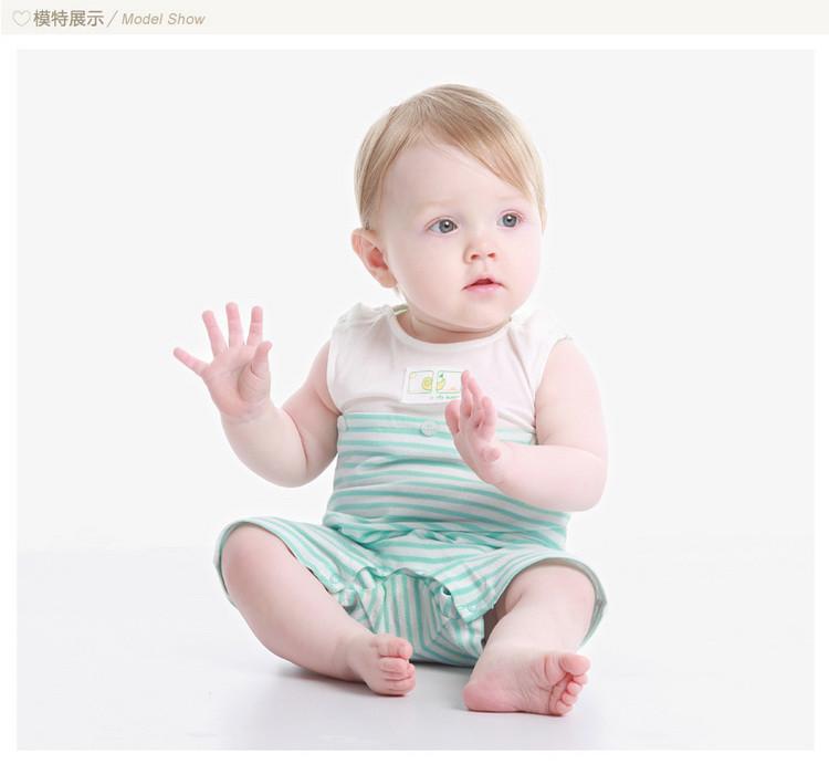 男宝婴儿连体衣薄款新生儿哈衣