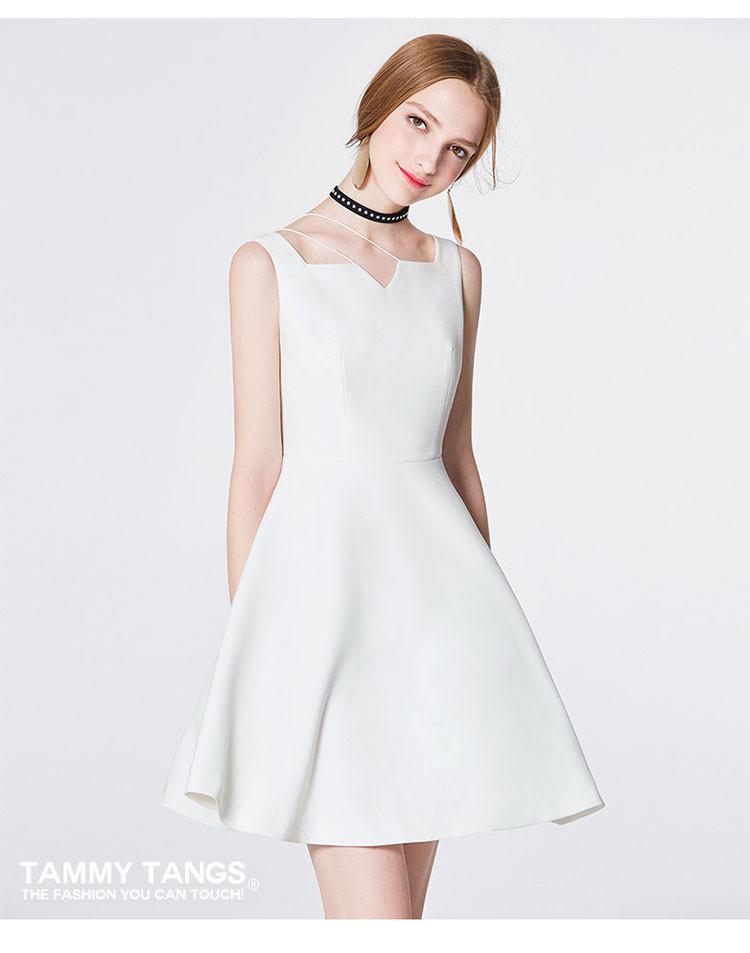 小礼服裙图片_白色小礼服牌子哪个好 白色小礼服裙中长款怎么样