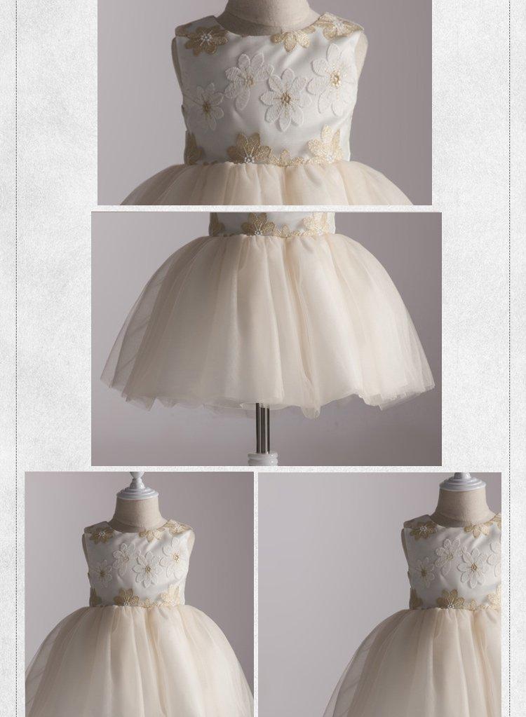 女童白色欧式礼服裙