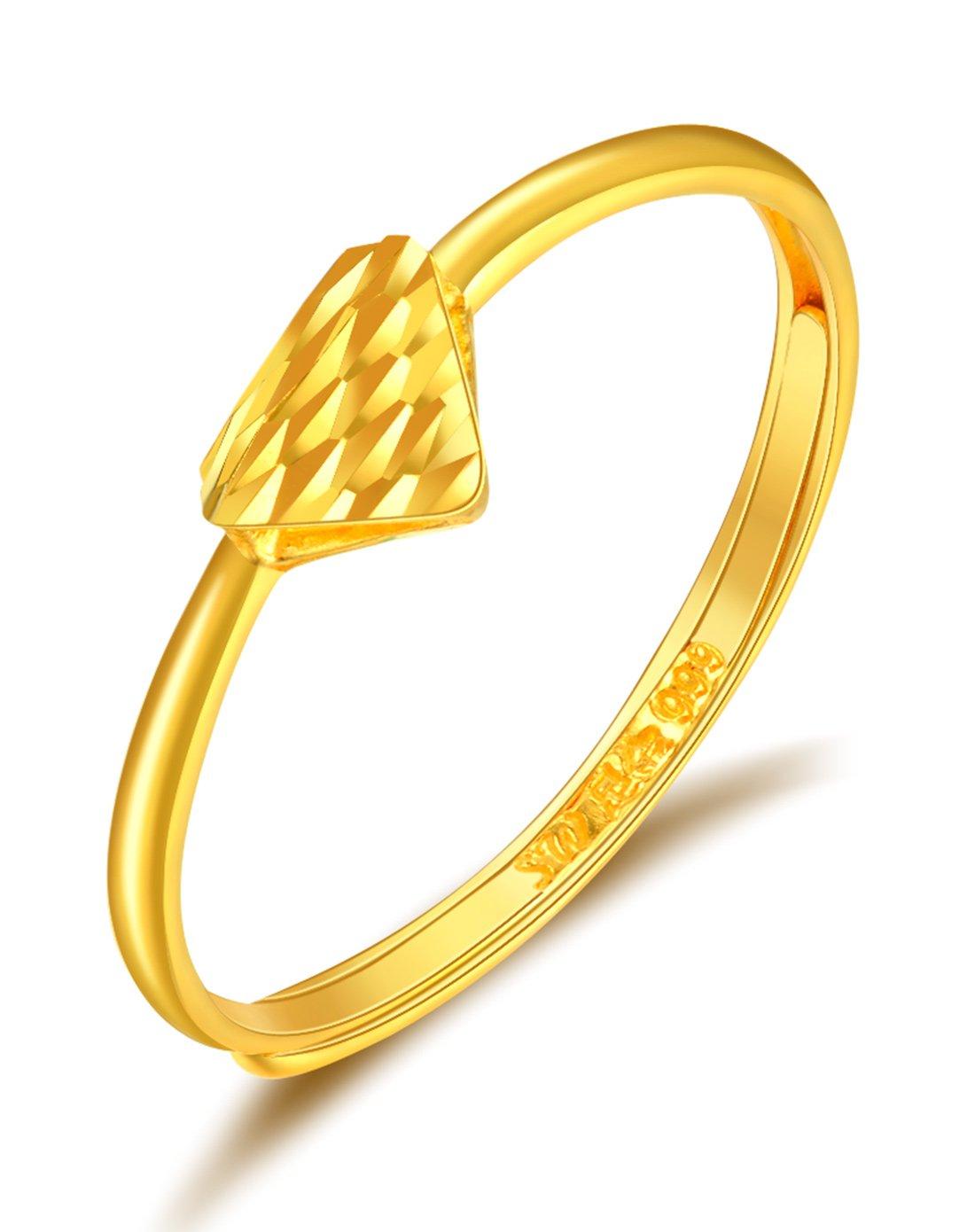 萃华萃华 闪亮系列足金三角形戒指 (计价)VRJ1609062120