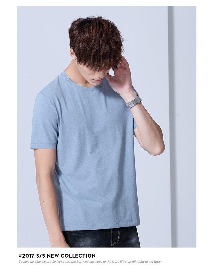 纯色时尚短袖t恤