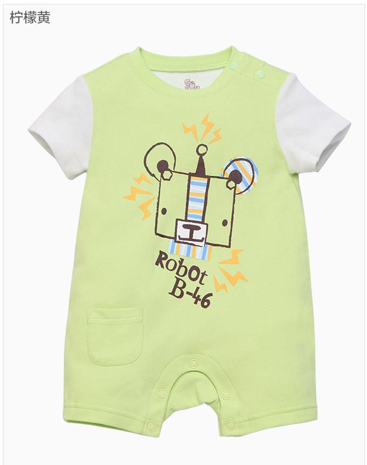 gagoutagou婴童服饰专场男女宝款可爱印花短袖连体衣