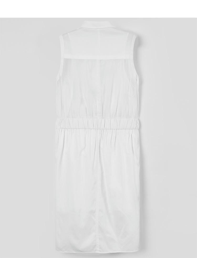 衬衫式连衣裙白色