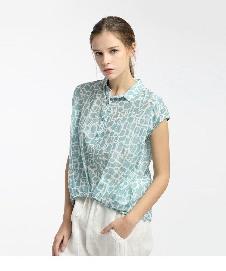 女装夏季石纹丝棉小衫石纹花