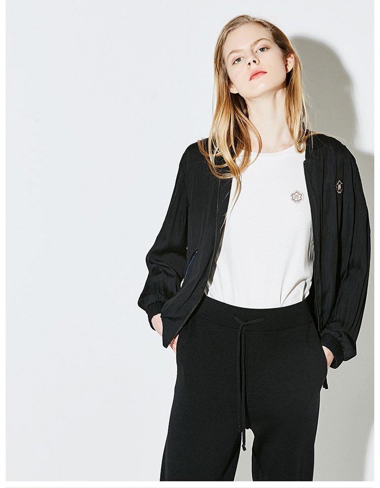 【夏新品】中国风仙鹤刺绣薄棒球服外套