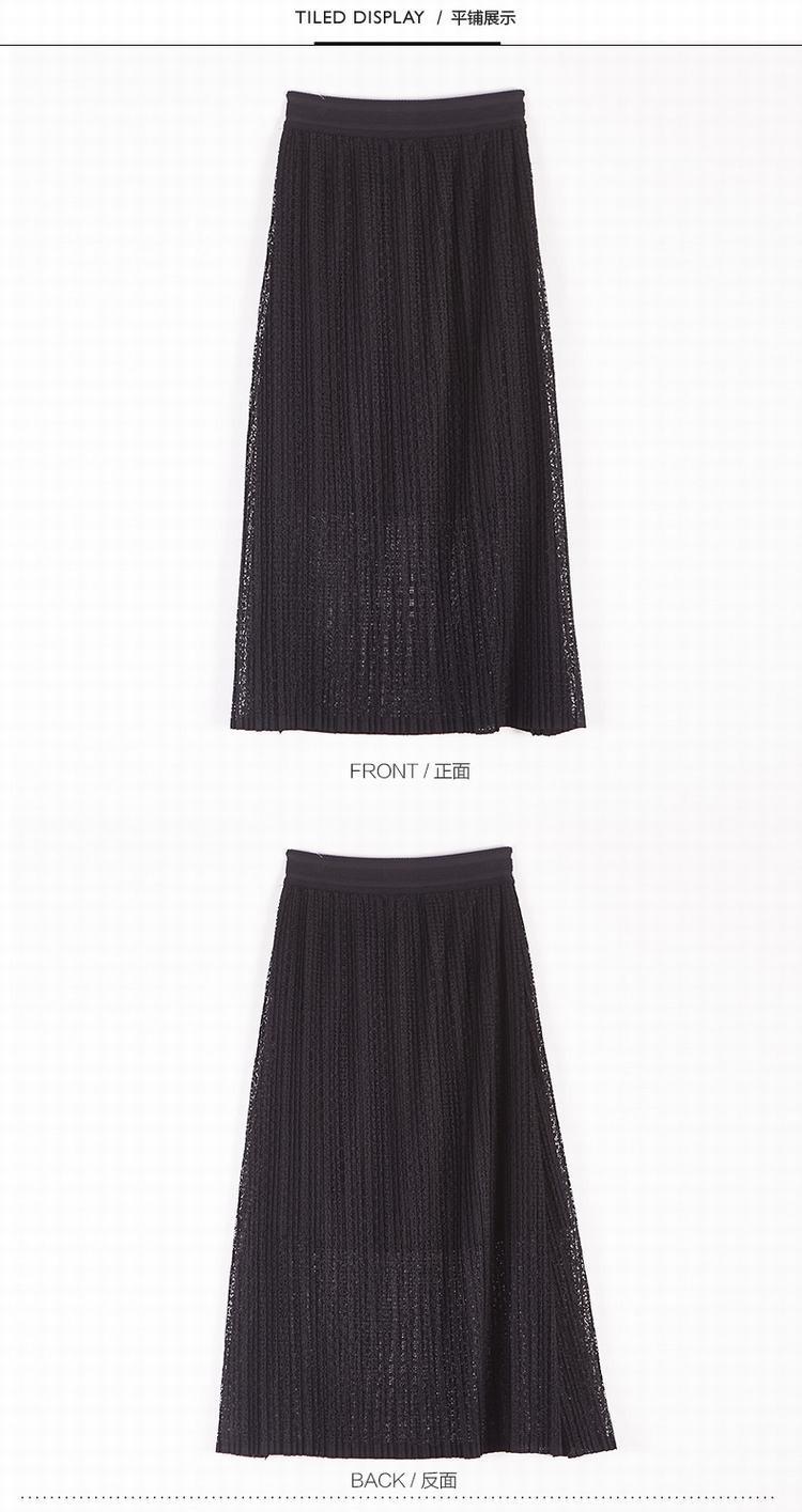 女针织长裙