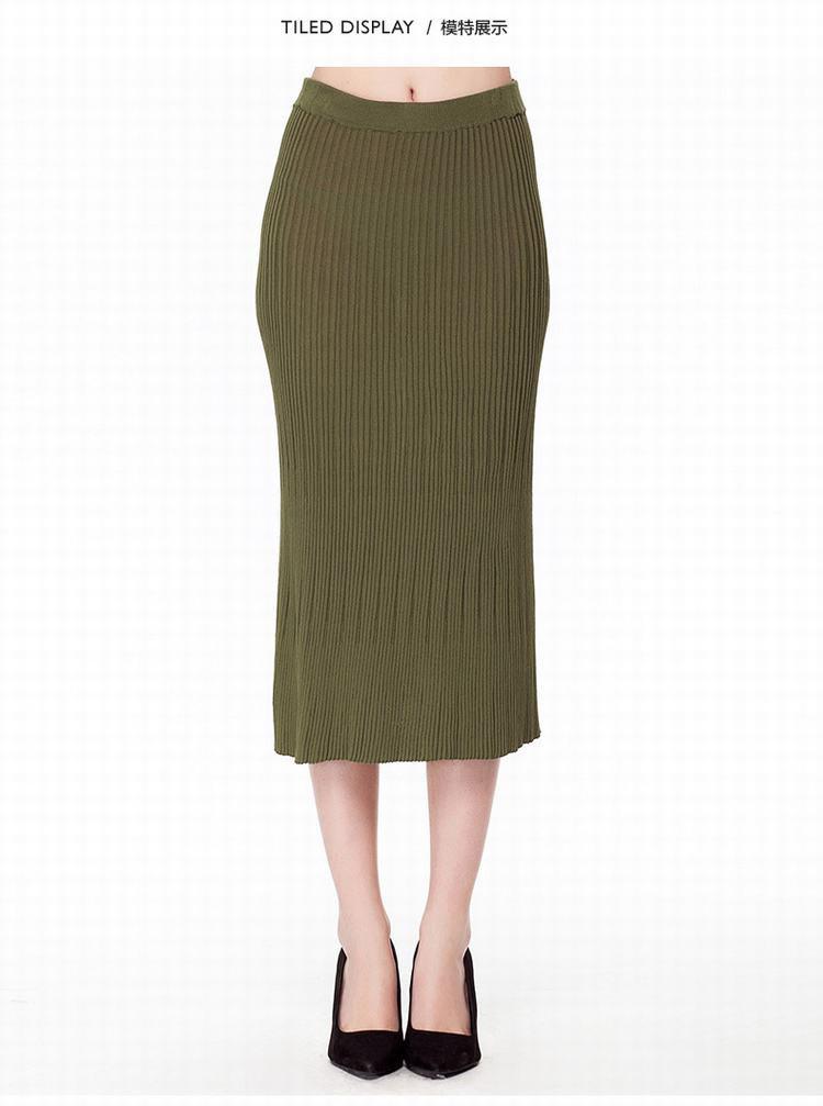 修身优雅针织长裙