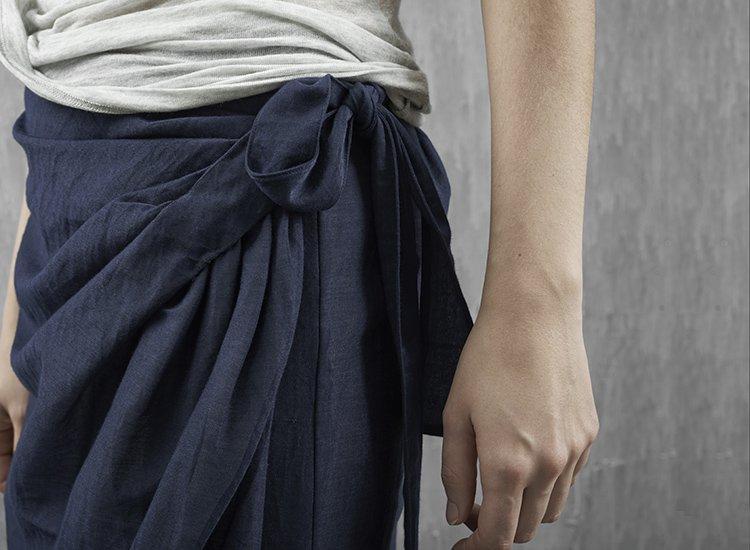 日着原创春夏季新款潮一片式系带半身裙子