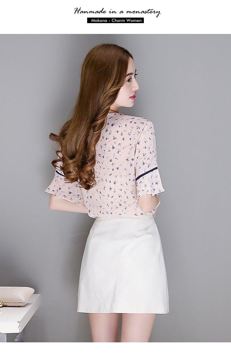 花边小清新v领小衫粉色 材质: 面料:100%聚酯纤维 洗涤说明: 手洗 最