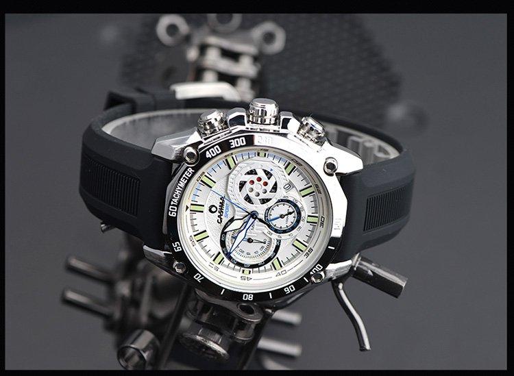 下线【唯品专供】casima赛车表盘石英手表男士手表