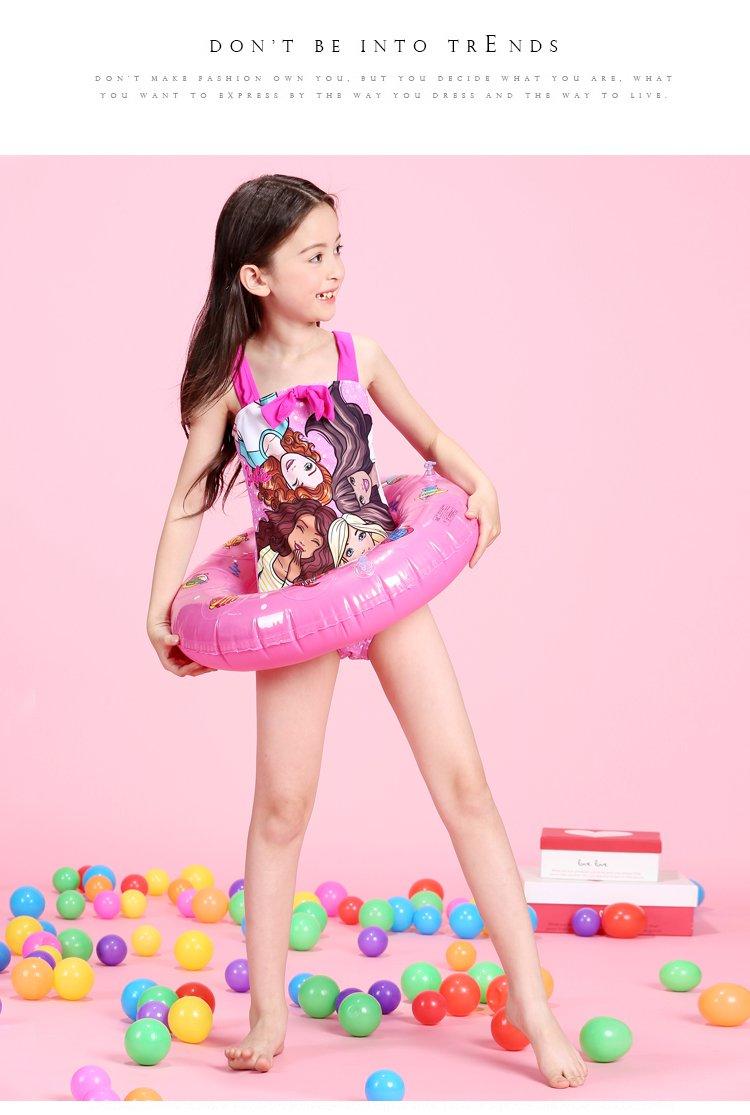 甜美可爱时尚系列连体泳衣粉色