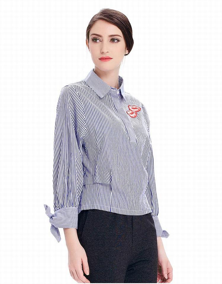 moreline女装专场 梭织翻领长袖衬衫           很有设计感的一件衬衫