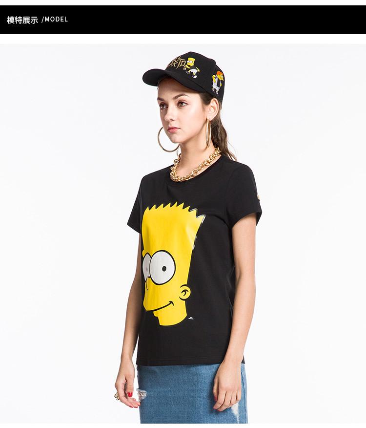 the simpsons辛普森联名系列 女款辛普森图案短袖t恤