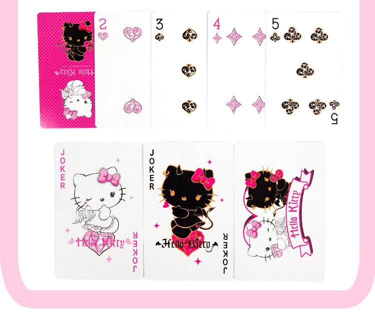 凯蒂猫儿童卡通扑克牌铁盒装
