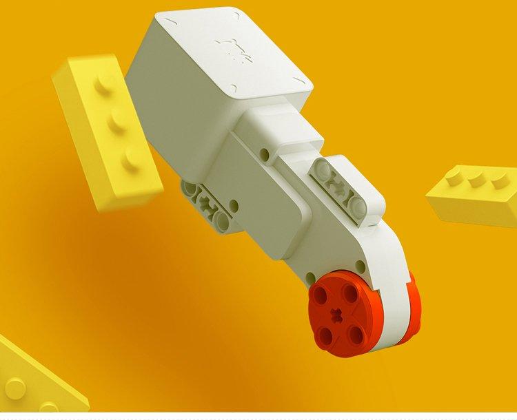 积木米兔小米机器人实体机甲版智益智拼装履带电动编程男孩酒精玩具娃娃图片