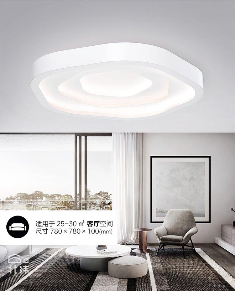 led吸頂燈飾簡約現代北歐個性創意家用客廳燈臥室燈具