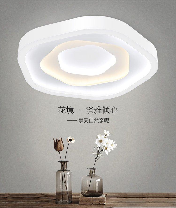 led吸顶灯饰简约现代北欧个性创意家用客厅灯卧室灯具