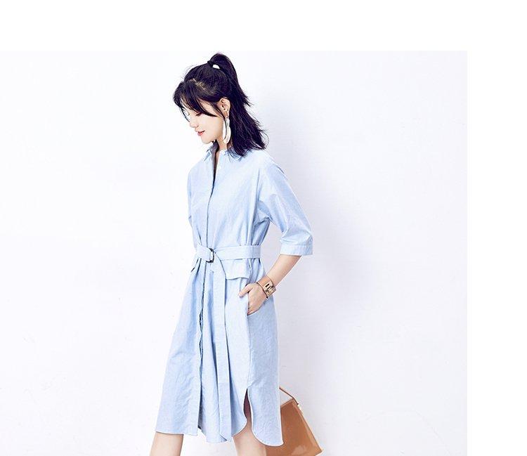 优雅衬衫式连衣裙