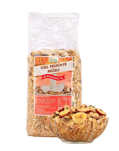 德国进口 保罗森多种水果麦片1000g