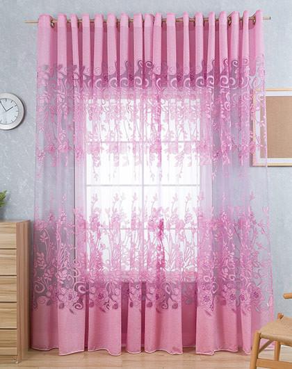 7m两片 欧式客厅卧室成品窗纱