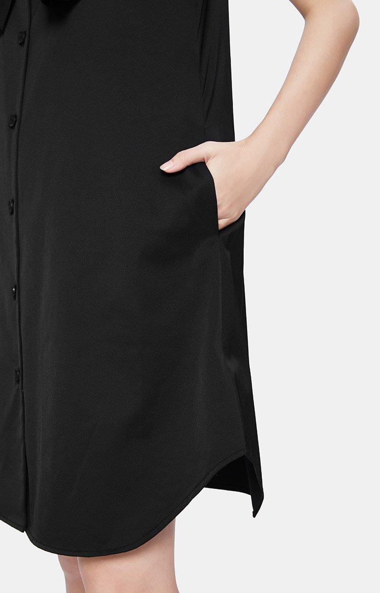 无袖衬衫式连衣裙