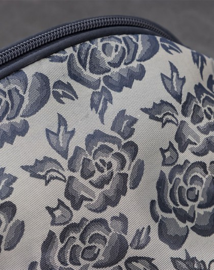 大号玫瑰花纹半圆形 收纳袋 化妆包