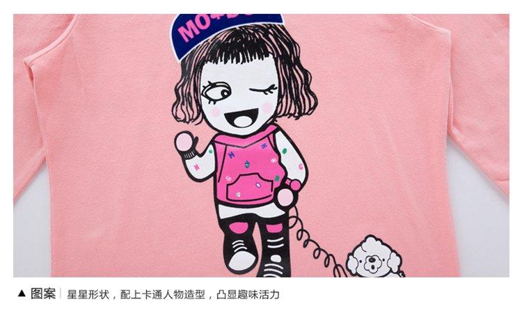 女童可爱卡通休闲长袖t恤