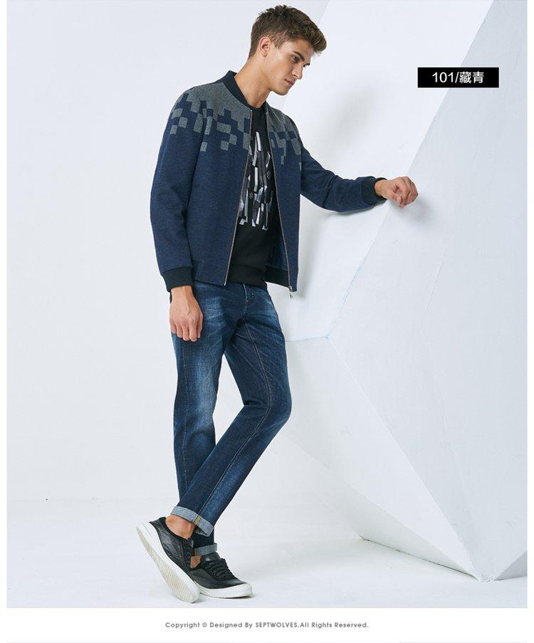 青年时尚男装_秋季新品青年时尚商务休闲棒球领夹克男装外套