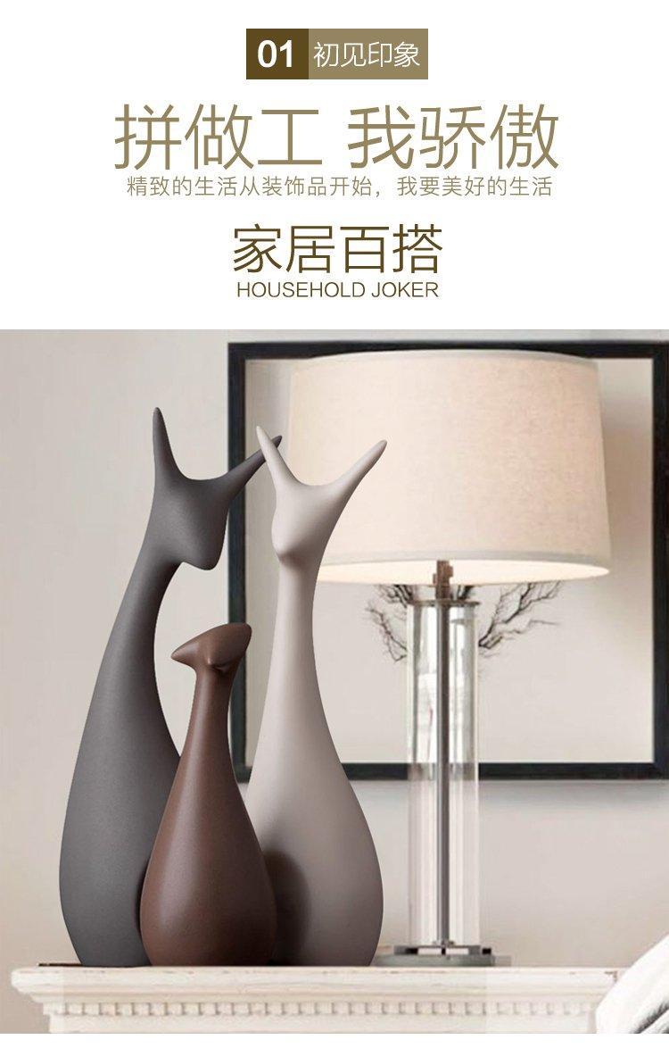 商品名称: 北欧家居饰品创意工艺品客厅陶瓷猫摆件 摆件样式: 动物