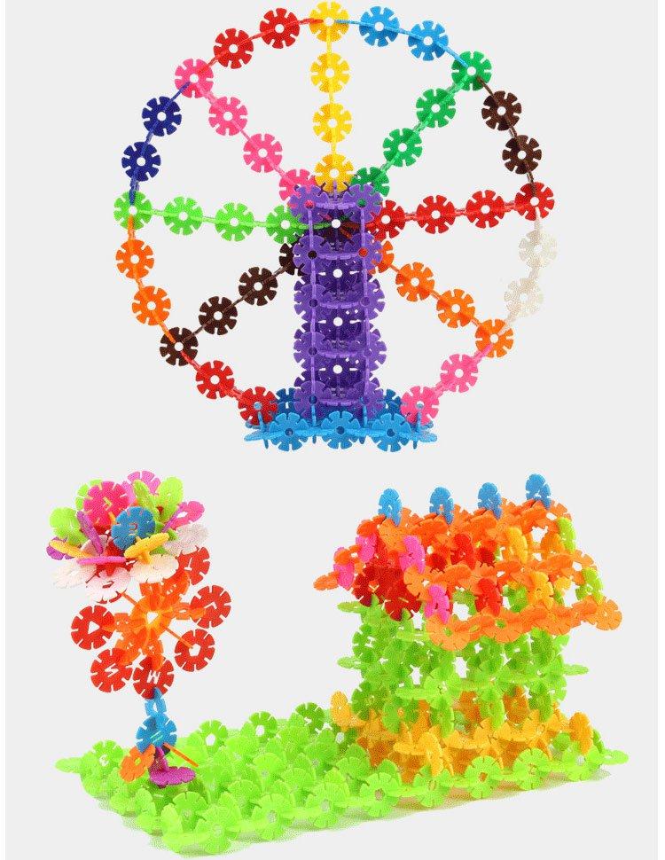 米奇龙雪花片积木1200片儿童塑料拼插益智积木男孩女孩玩具