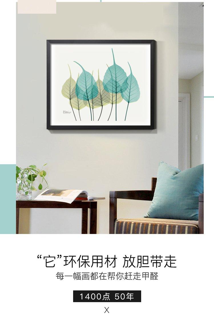 现代简约北欧清新沙发背景墙客厅挂画配电箱装饰画遮挡画电表箱图片