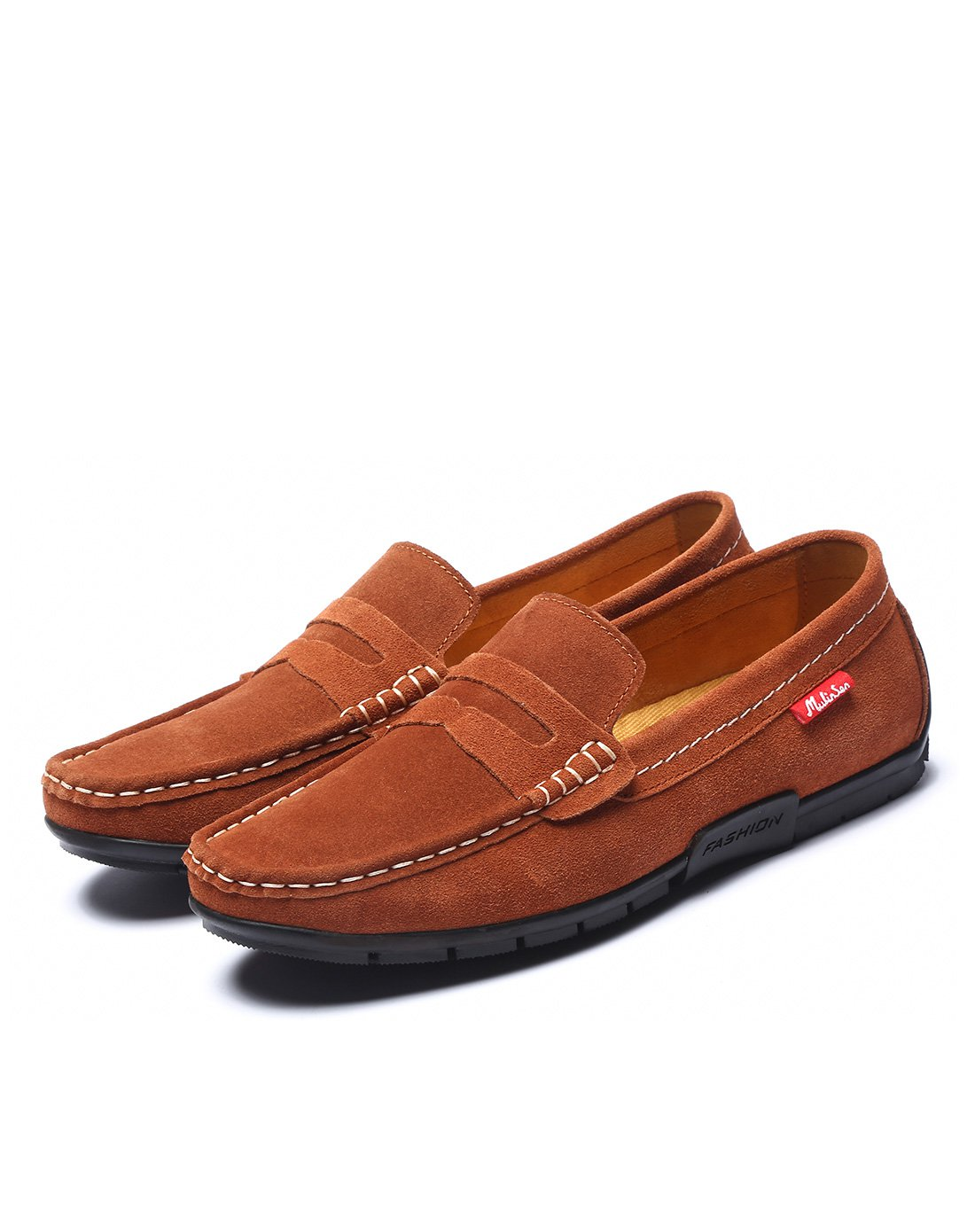 木林森休闲时尚 男士反绒套脚轻便驾车鞋Q31873741