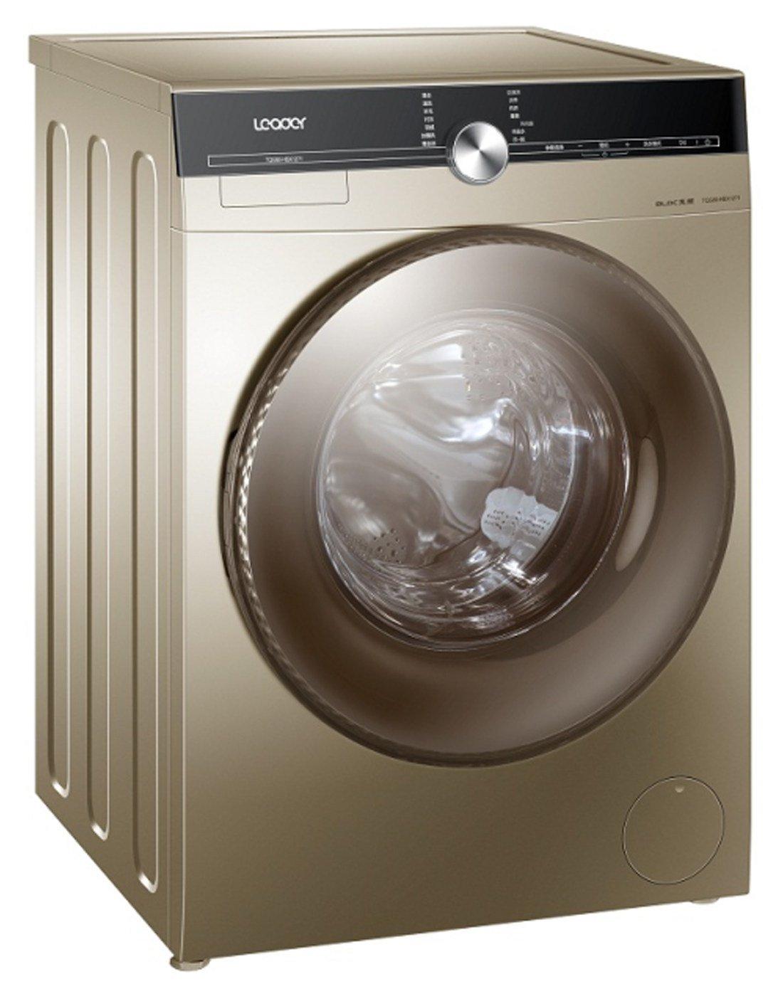 海尔统帅滚筒洗衣机8公斤 洗烘一体蒸汽烘干 变频电机 高温自清洁内