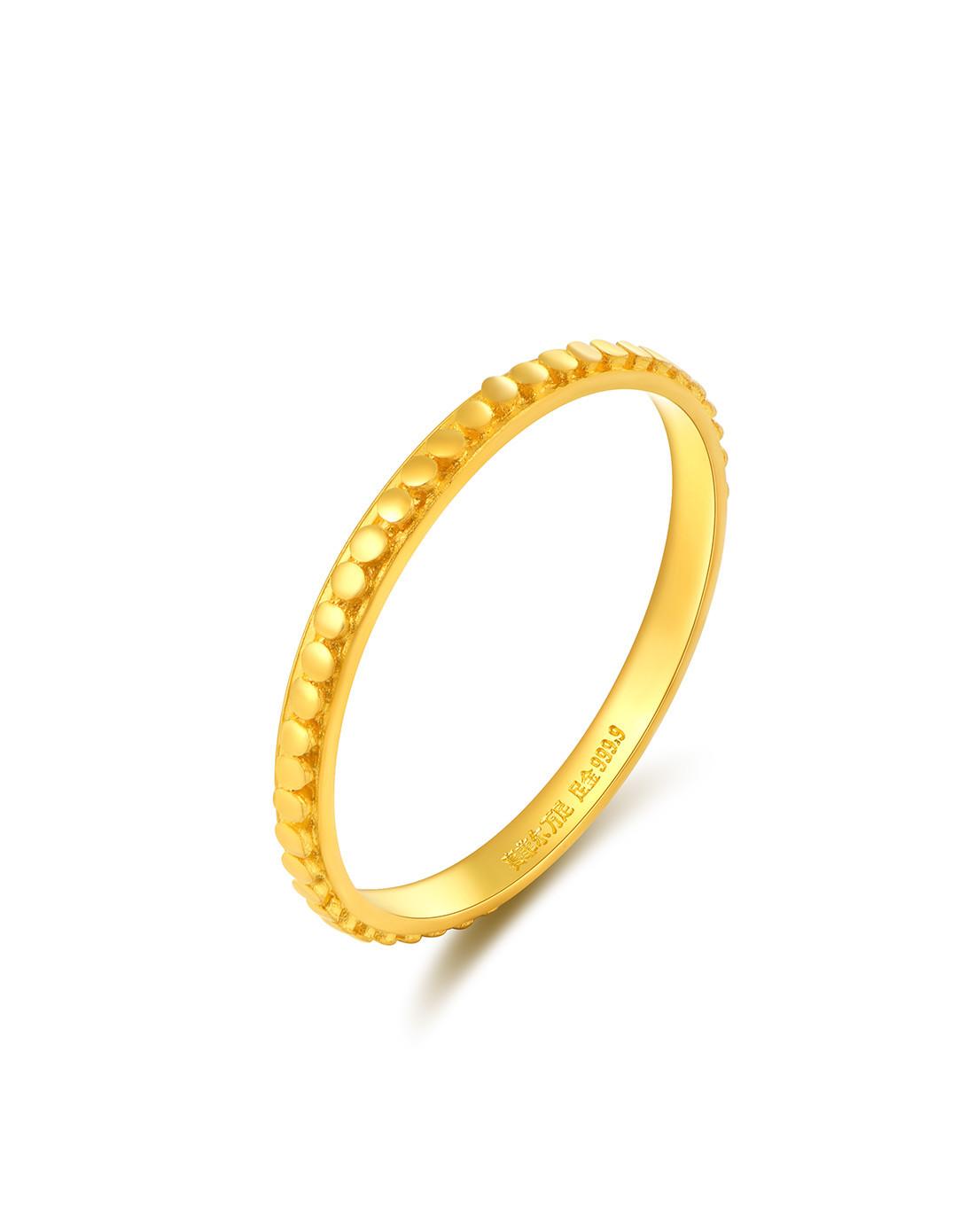 赛菲尔赛菲尔万足 情侣款足金999.9黄金对戒情侣戒指男士戒指计价ASFEb02667a