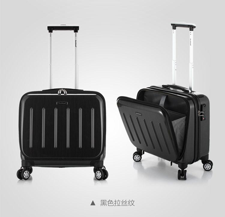 前置口袋拉杆箱 商务出差便捷行李箱拉杆箱 静音飞机轮手提登机箱 16