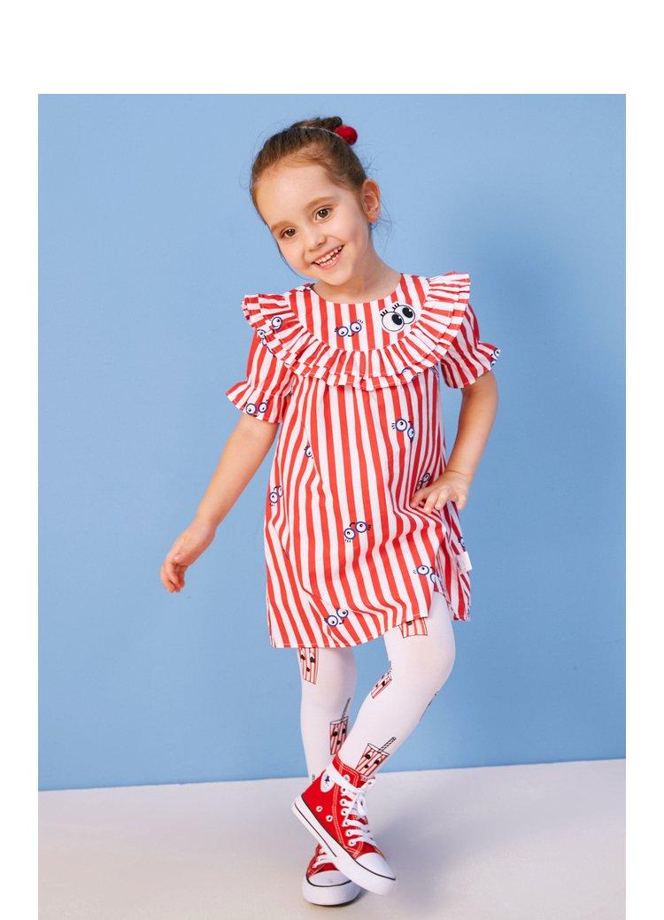 迷你巴拉巴拉女童短袖连衣裙2018年夏装新款宝宝公主裙洋气裙子