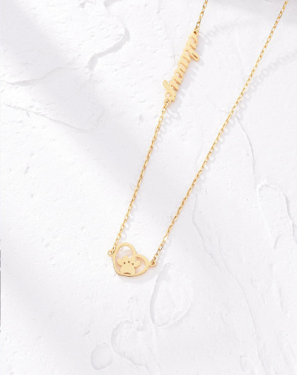 enzo【原唯品价936】18k黄金狗掌 彩金女项链套链